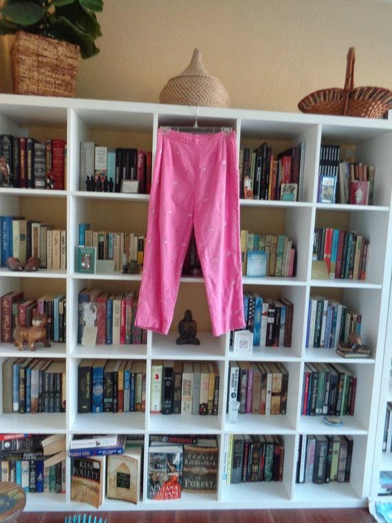 Lilly Pulitzer VINTAGE 1960's Pink Capris Pants