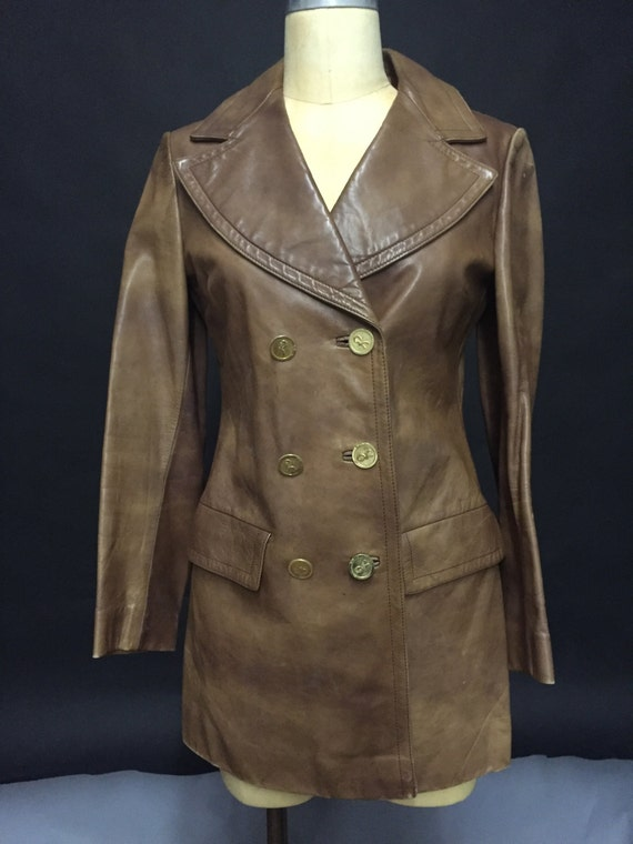 1970s Ladies Brown Leather Jacket (AVAILABLE)