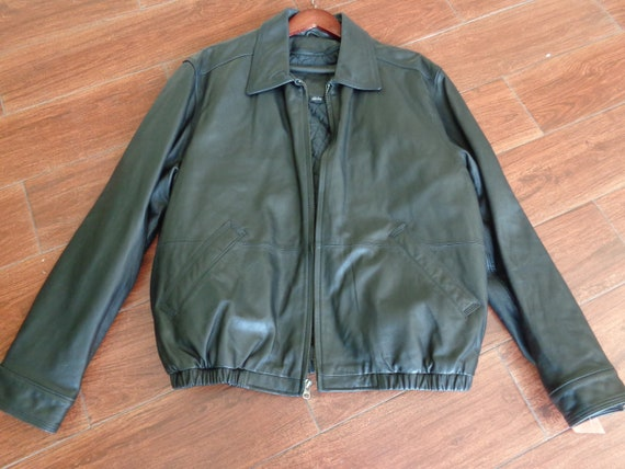 American Classics 1990's Men's Black Leather Jacke
