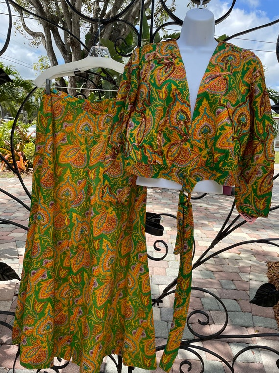 1970's Handmade Women's Palazzo Pants Outfit - image 2