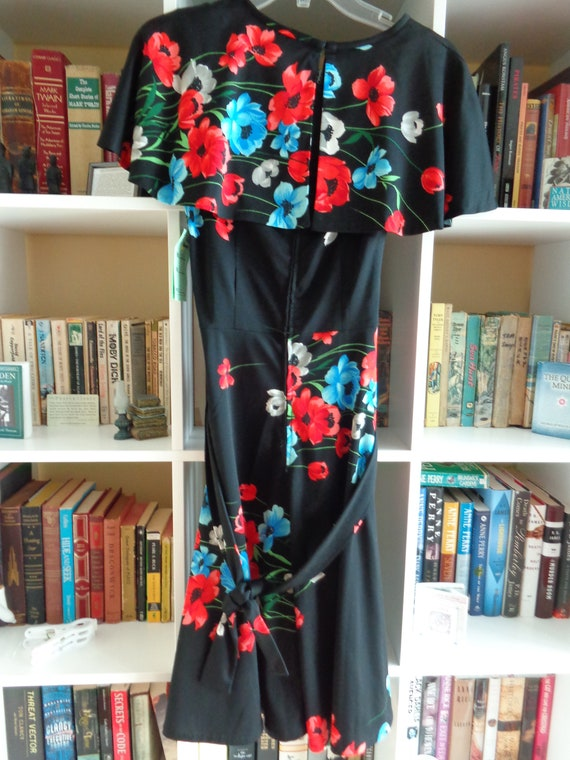 1970's Floral Print Dress Polyester - image 4