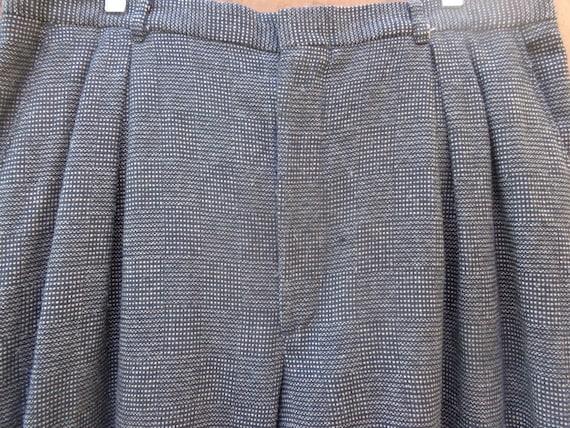 Cotler 1980's Tweed Wool Pleated Pants- Men's