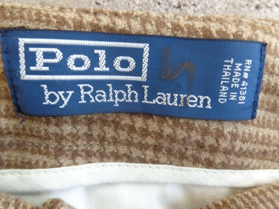 Ralph Lauren Polo 1980's Brown Hounds Tooth Plaid… - image 6