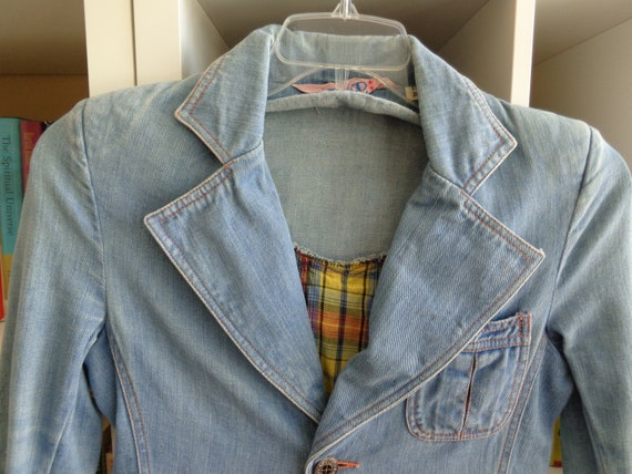 Faded Glory 1970's Jacket Blue Denim - Women's