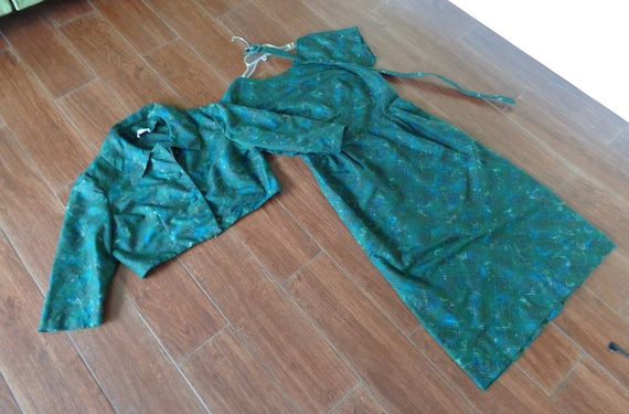 Jerry Gilden VINTAGE 1950's 2 Piece Belted Dress