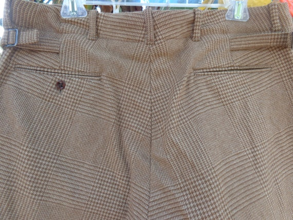 Ralph Lauren Polo 1980's Brown Hounds Tooth Plaid… - image 4