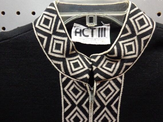 ACT III VINTAGE 1960's Ladies Nehru Collar jacket