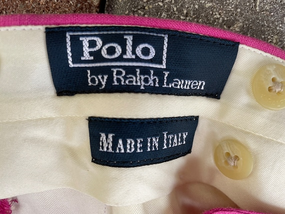 Ralph Lauren Polo 1980's Raspberry Linen Trousers - image 8