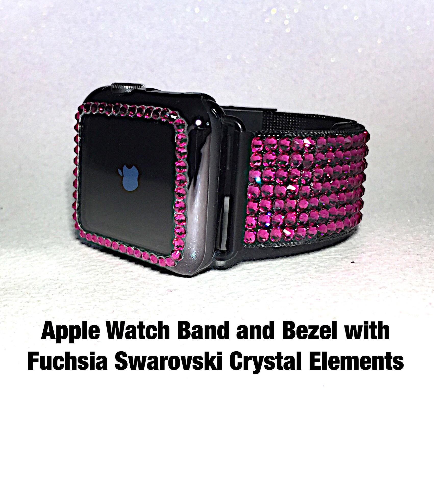 38/40 42/44 Crystal Mega Bling Apple Watch Band /Bezel