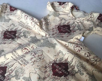 Marauder's map Harry Potter twirl dress *made to order*