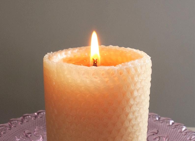 Honeycomb Handmade 100/% Beeswax Wedding Unity Candle Set