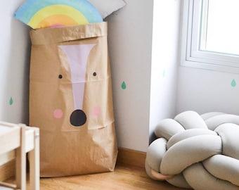 Paper bag laundry bag TOYS - Deer room decor
