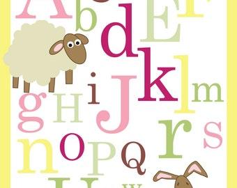 ABC Alphabet Poster print