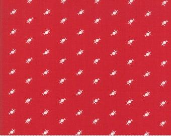 12 Yard Fabric Yardage Country Christmas Cardinal Red Bunny Hill Designs 2967 11 Moda
