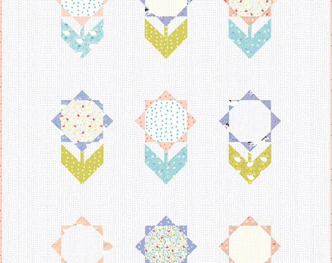 Enchanted Happy Flower Quilt Pattern by Gingiber