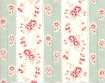 Poetry - Rosebud Stripe in Mist by 3 Sisters for Moda Fabrics