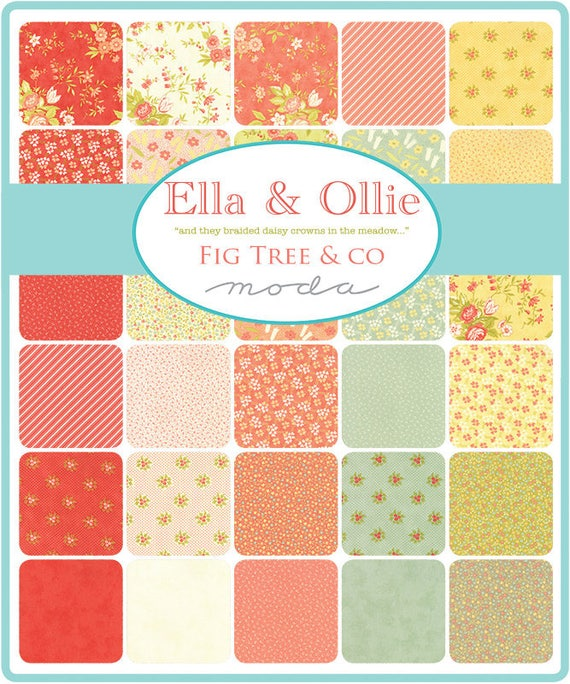 Moda ELLA AND OLLIE Apricot 20303 12 Quilt Fabric By The Yard By Fig Tree /& Co