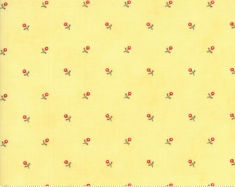Ann's Arbor - Buds in Buttercup by Minick & Simpson for Moda Fabrics