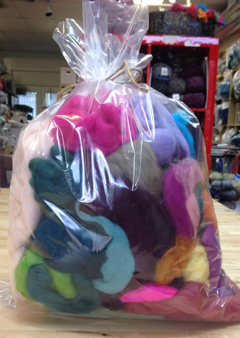 Spinning/Felting Fiber-Mixed Combed Top and Wool Roving image 0