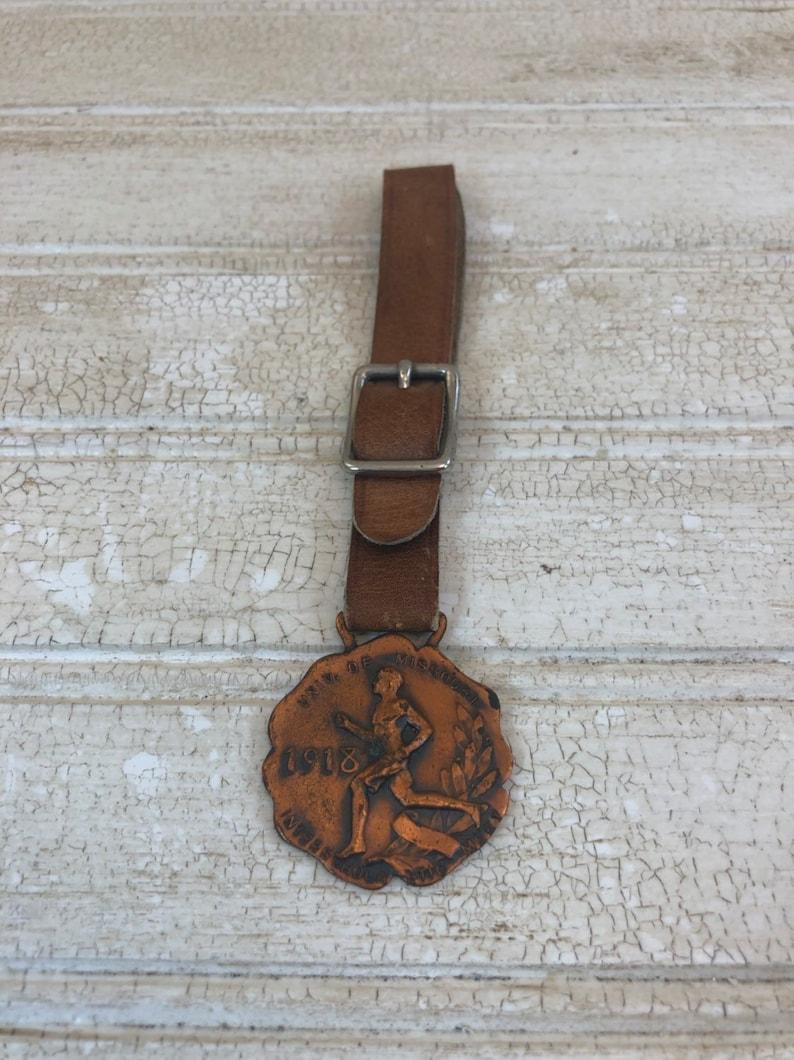 Vintage 1918 University of Missouri Interscholastic Meet Medal with Lanyard