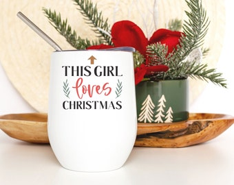 Holiday Wine Cup - Christmas Lover Gift for Friend - Funny Christmas Presents - Smooth Printed Design on Both Sides