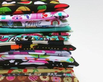 Bulk Reusable Sandwich Bags Zipper Food Pouch - Eco Friendly Gift for Kids - Party Favors - Cloth Sandwich Bags - Zero Waste