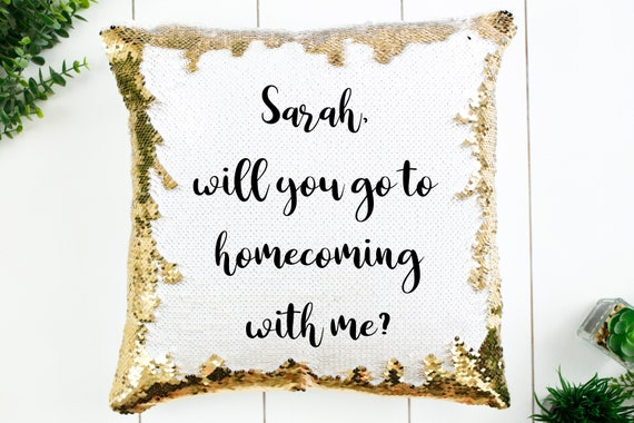 Christmas Homecoming Proposal.Homecoming Proposal Pillow Mermaid Sequin Pillow Case Four Designs Available Pillow Insert Available Cover Measures 15 By 15
