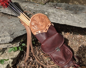 Pattern for Leather Archery Quiver