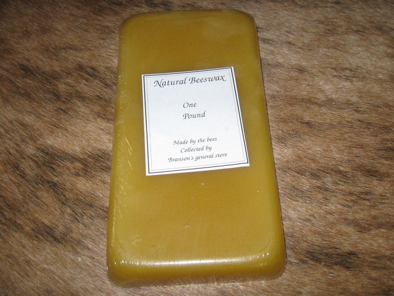 One Pound Pure Beeswax image 0