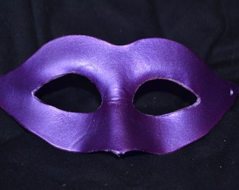 Purple leather masquerade mask
