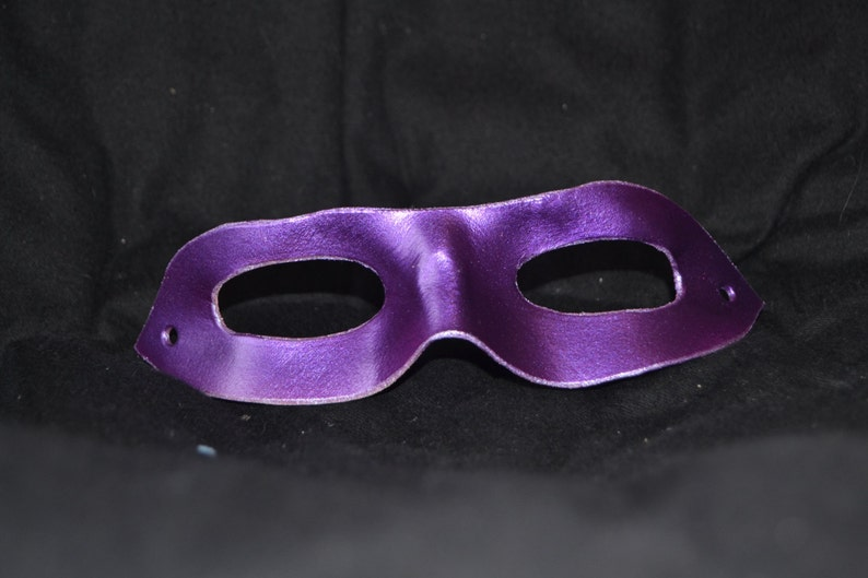 Purple leather superhero mask image 0