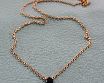 Black Spinel Gold Chain Necklace