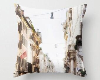 Pillow Cover, Rome, Italy, Via Del Corso, Street, Throw Pillow Cover, 16x16, 18,18, 20x20