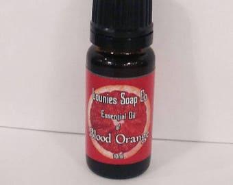Blood Orange Essential Oil | 10ml | Orange | Essential Oil | Citrus | Therapeutic Grade | Italy | Cold Pressed | Natural | Pure | Uplifting