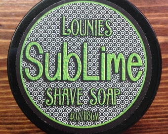 SubLime Shave Soap, Citrus & Olive, Lather, Shave, Face, Smooth Skin, Groomsman Gift, Natural Skin Care, Skincare for men, Fathers Day Gift