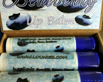Sugared Blueberry | Flavored Lip Balm | Fruit Flavor | Scented Lip Balm | Flavored Chapstick | Lip Balm | Chapstick | Chap Stick | Favors