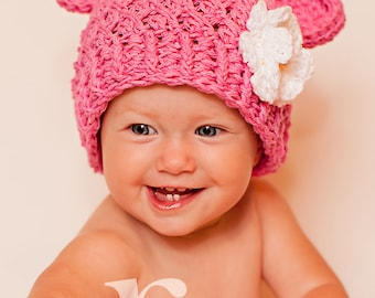 Baby Girl Hat 6 to 12 Months Monkey Baby Girl Hat Baby  c47f039d98d