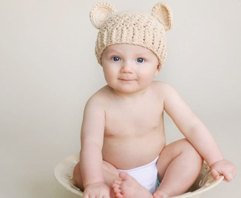 b6bb415e8c7 Baby Boy or Girl Hat 6 to 12 Months Baby Teddy Bear Hat Baby