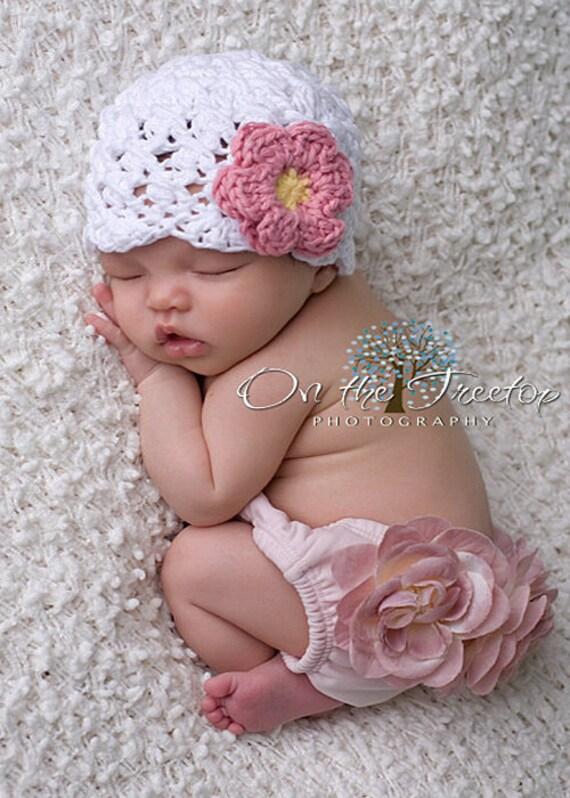 Lot de 3 Crochet Bébé Chapeaux chez le nouveau-né