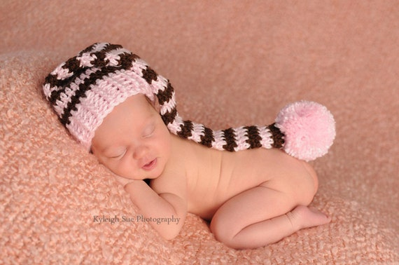 Stocking Hat Baby Girl Stocking Hat. Girl Photo Props. Baby  bdc9e2a55ef