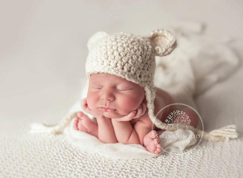 4ef99b8ec5e NEWBORN Hat Baby Boy Hat Baby Girl Hat Baby Boy Teddy Bear