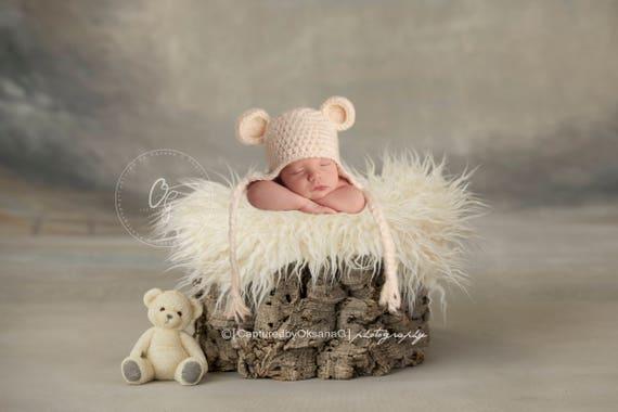 a7c7f650044 NEWBORN Hat Baby Teddy Bear Hat Baby Boy Hat Baby Girl Hat