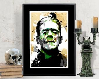 Boris Karloff Frankenstein Classic Movie Monster Art Print