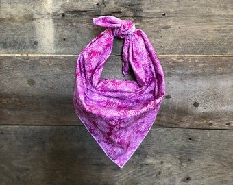 Pink Purple Ombre Dandelion Firework Tie On Dog Bandana