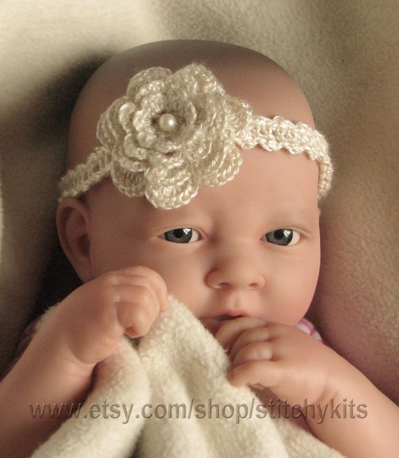 Crochet Pattern For Baby Headband Child Adult Flower Etsy