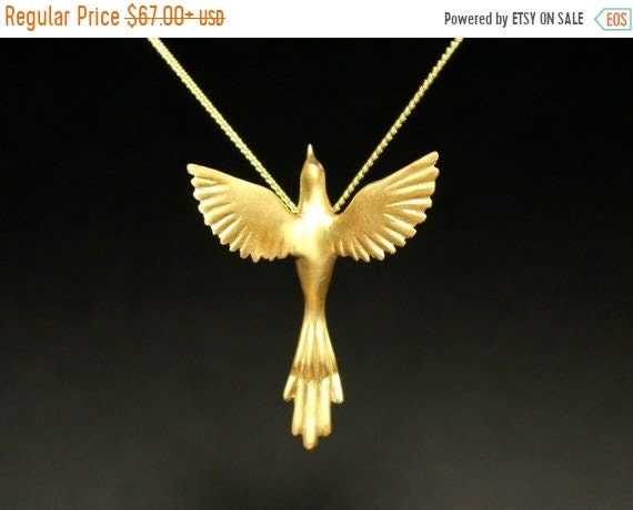 black friday sale Phoenix bird necklace birds jewelry exotic bird Greek mythology necklace sterling silver pendant open wings hand carved ch