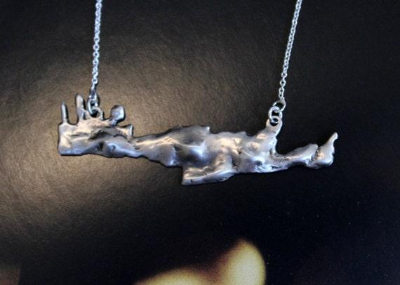 Crete island pendant jewelry greek islands sterlng silver necklace summer jewelry