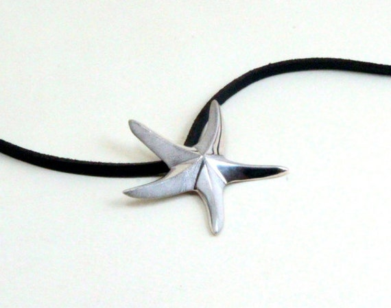 Sea jewelry, Sea star, Star fish, necklace, pendant, sterling silver, hand crafted, unique summer gift