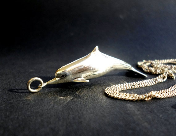 dolphin jewelry, dolphin pendant, dolphin charm,pisces jewelry, pisces zodiac, ocean creatures, by the sea jewelry, sterling silver