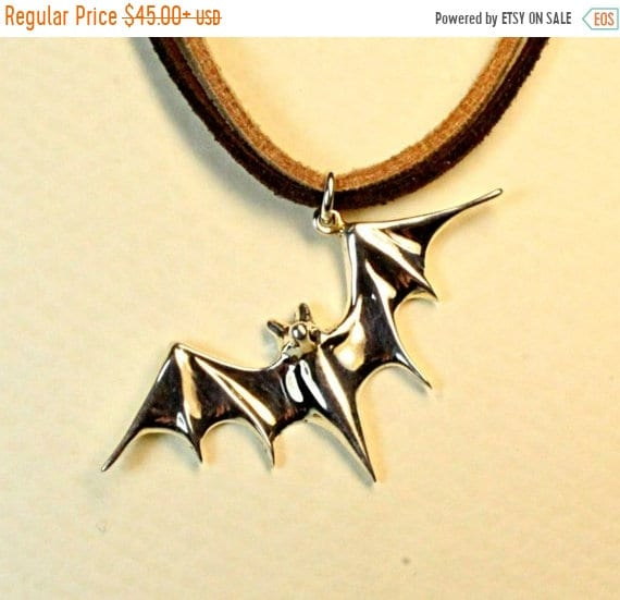 ON SALE Bat jewelry, batman jewelry, bat pendant, vampire symbol, chiroptera, handmade jewelry, solid sterling silver mother's day jewelry